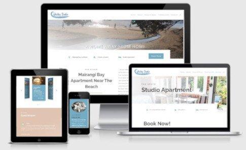 Screen shot of website for Whitby Studio